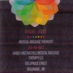 Sandy and Rachel's Medical Massage Therapy LLC in Dowagiac - $15 Certificate for $7.50 - NOW $3.75