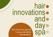 Hair Innovations & Day Spa - Body Waxing, Color Service & Spa Pedicure - $20 Certificate for $10 - NOW $5!