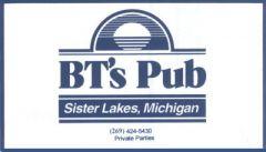 BT's Pub in Dowagiac - $20 Certificate for $10