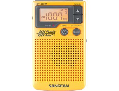 Sangean DT-400W AM / FM Digital Weather Alert Pocket Radio