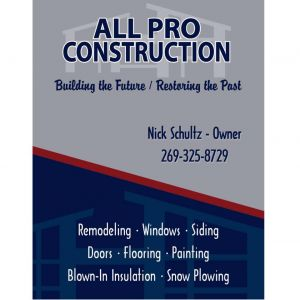 All Pro Construction in Benton Harbor - $1000 Certificate for $500